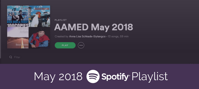 May 2018 Spotify Playlist